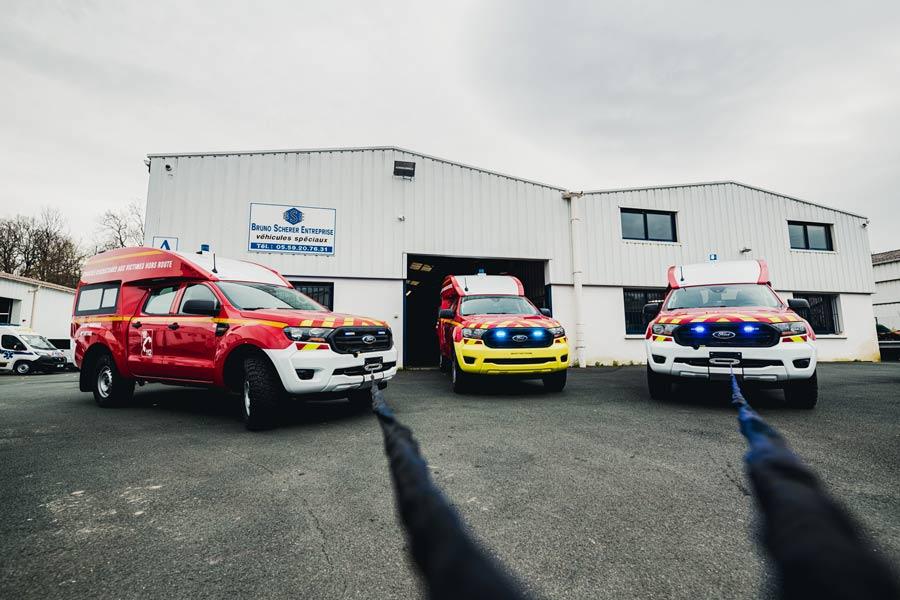 Ford Ranger Pompiers illustration